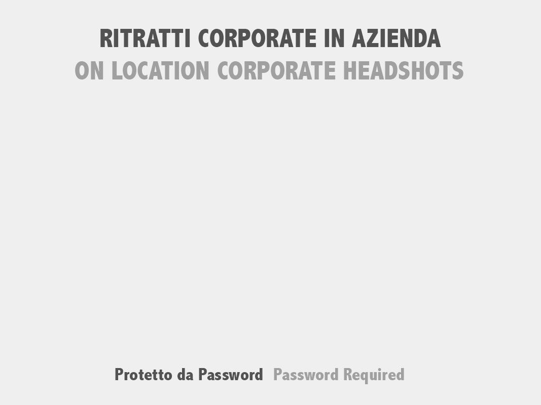 Ritratti Corporate in Azienda